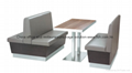 Full package solution modern customized booth seat