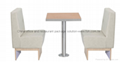 Fast Food Restaurant Furniture Booth Seating