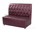 High end button tufted restaurant booth