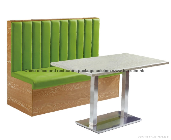Leather Booth Sofa Restaurant furniture 1