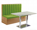 Leather Booth Sofa Restaurant furniture