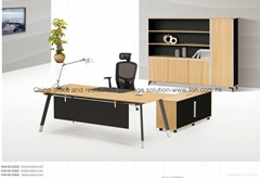 Unique executive office desk set