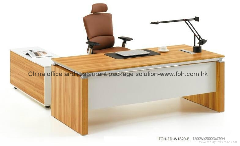 Modern executive office desk wholesale foh ed w1820 b for Modern office furniture suppliers