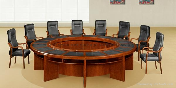 Awesome Classic Design Round Executive Conference Table Furniture 1