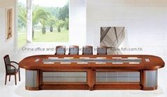 Luxury wood design congress table