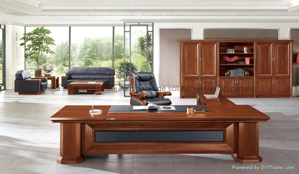 High End Executive Furniture Boss Office Desk Set 1