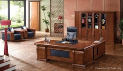 Full set ceo executive office desk with credenza