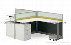 L Shape Office Partition Cubicles