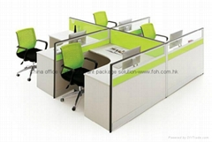 Commercial Office Workstation F shape Office Desk