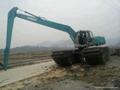 used Kobelco amphibious excavator