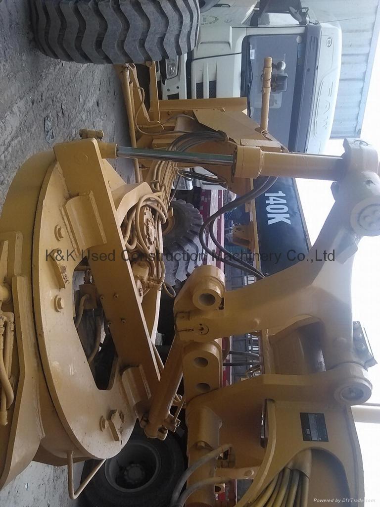 Used  caterpillar 140K motor grader 4