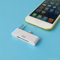 30 to 8-pin Audio Adapter for iPhone 5 iPod Touch Dock Stand