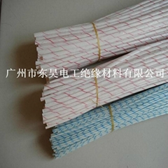 Fiberglass sleeving coated with
