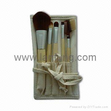 Bamboo makeup brush set,Bamboo brush set 1