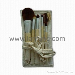 Bamboo makeup brush set,Bamboo brush set