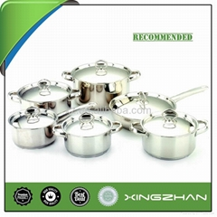 12pcs Stainless Steel Induction Cookware Set
