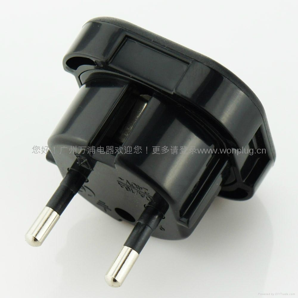 Uk To Euro Plug Adapter With Safety Shutter H18b