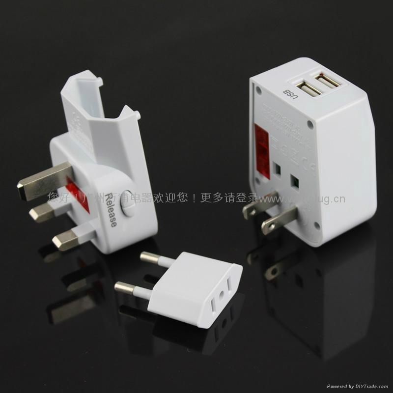 雙USB轉換插頭