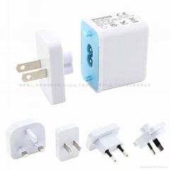 1A USB多國轉換充電器