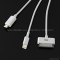three in one USB Charging Cable