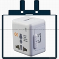 wonplug Mini size all in one travel adapter with USB