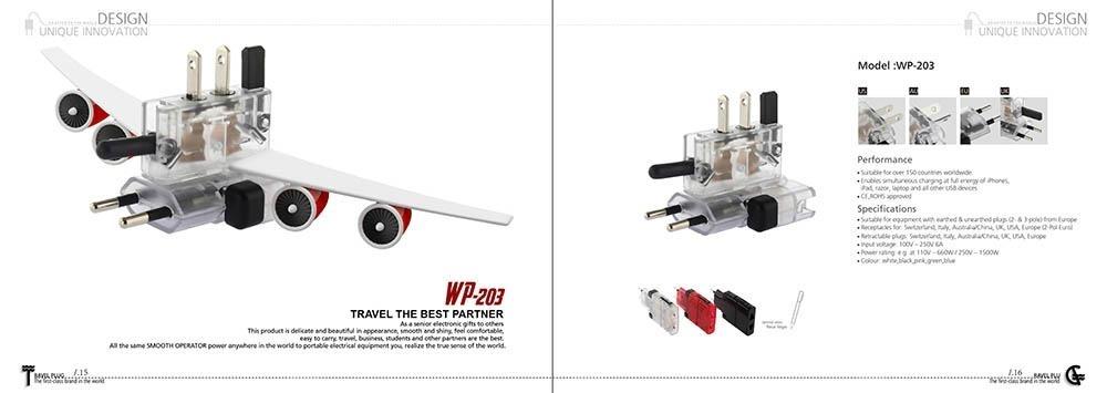 超薄  !全球  一款能用于南非国家的全球通旅行插头!配高档塑胶外盒包装,携带方便!
