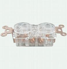 纯紫铜音响插座  WP-515R多功能转换插头