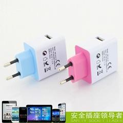 USB Charger with EU Plug