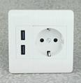 Double USB German wall socket