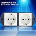 Screw locking duplex schuko socket
