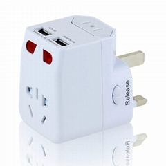 2.1A China World Travel Adapter with dual USB