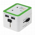 935 All in one travel adapter with 2USB