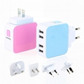 4USB universal travel charger  4