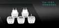 Worldwide Travel Adapter Plug  AC Power AU UK US EU Italy Plug Adaptor 4