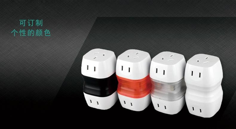 Worldwide Travel Adapter Plug  AC Power AU UK US EU Italy Plug Adaptor 6