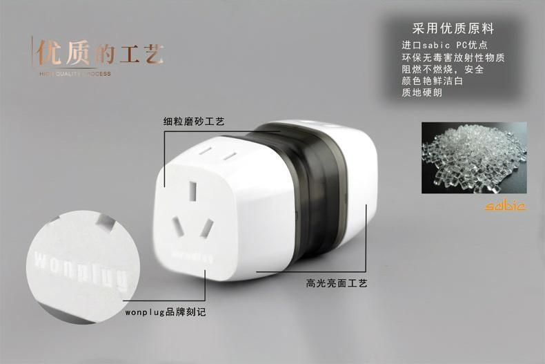 Worldwide Travel Adapter Plug  AC Power AU UK US EU Italy Plug Adaptor 13