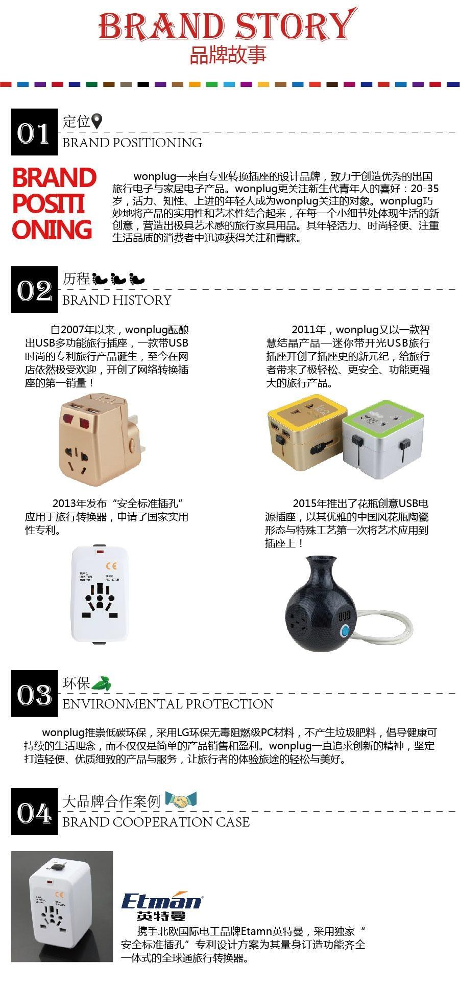 广州万浦电器转换插头品牌故事