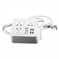 4-port USB desk charger with 3 Chinese outlets and phone holder 2