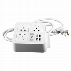 4-port USB desk charger with 3 Chinese