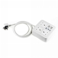 4-port USB desk charger with 3 Chinese outlets and phone holder 4