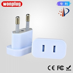 portable China/USA to Austria/Korea/Thailand 4.0MM/4.8MM plug adapter