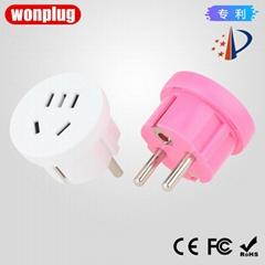 WP-4.8E China to Europe/Korea travel adapter plug