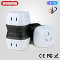 Worldwide Travel Adapter Plug  AC Power AU UK US EU Italy Plug Adaptor
