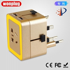 933 wonplug萬浦2.4A出國旅遊轉換插座帶USB