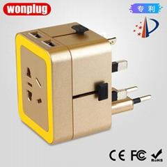 933 wonplug万浦2.4A出国旅游转换插座带USB