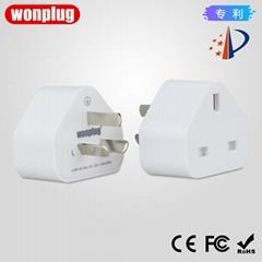 Hong Kong version UK to China plug adapter