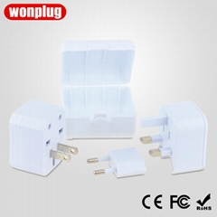 3 in one travel adapter with case