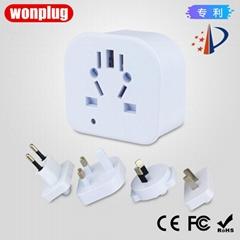C8A 万浦国标标准型旅行转换器连接器