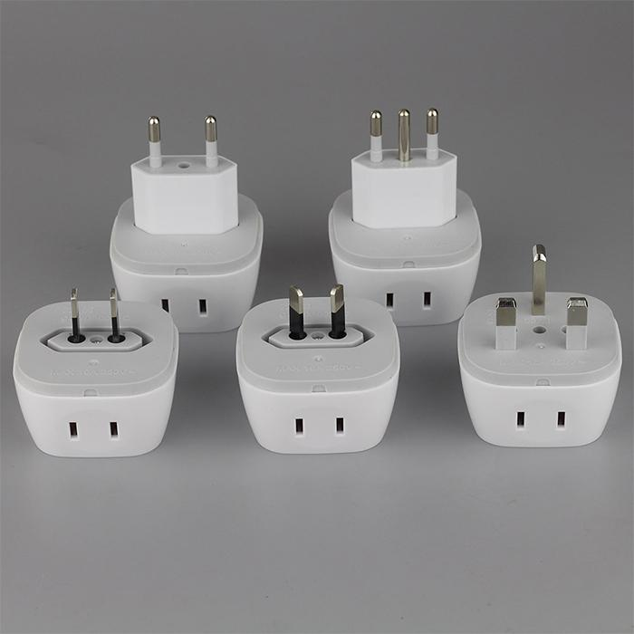 All in one portable plug adapter