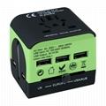 universal travel plug adapter with 3usb